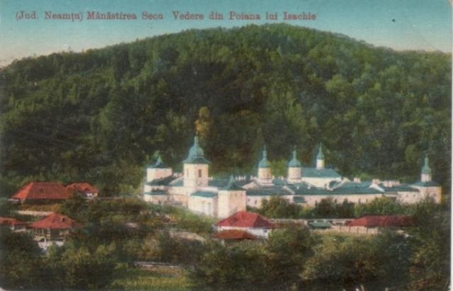 Ținutul Neamțului, în imagini cartofilice vechi (XII). Mănăstirea Secu,  locul confruntării dintre turci și greci la 1821 | Radio Mplus